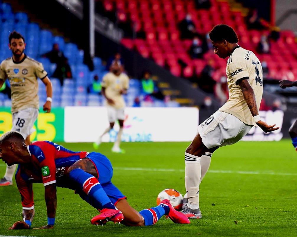 Rashford goal vs Crystal Palace