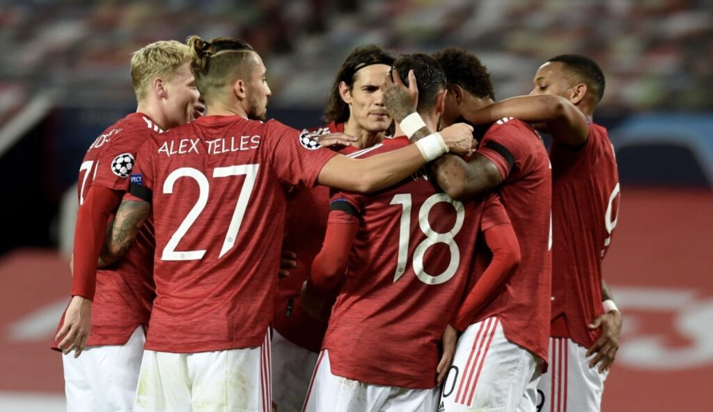 Manchester United celebrate win over Istanbul Basaksehir in the Champions league