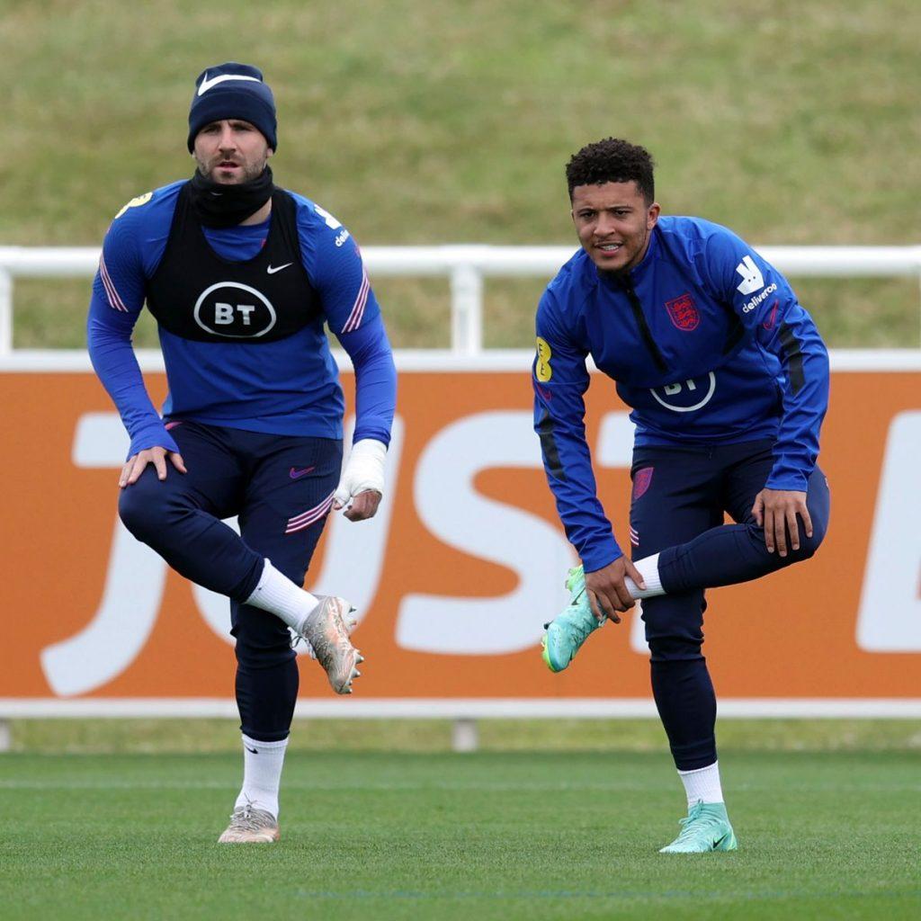 Jadon Sancho and Luke Shaw Englnd national team